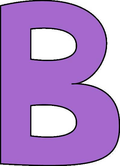 398x550 Purple Letter B Clip Art