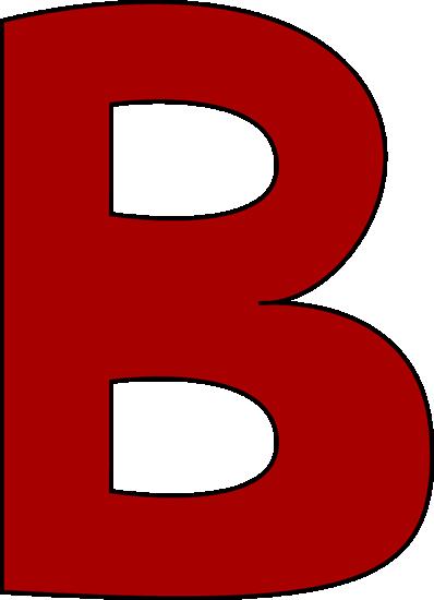 398x550 Red Letter B Clip Art
