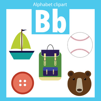 350x350 Alphabet Clip Art Letter B Beginning Sounds By Thinkingcaterpillars