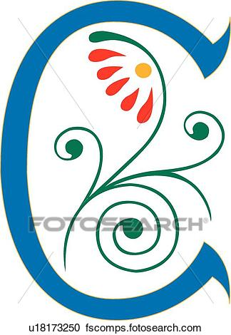 324x470 Clipart Of Letter C U18173250