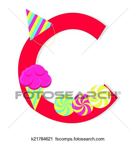 450x470 Clipart Of Letter C From Candy Alphabet K21784621