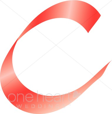 381x388 Fancy Letter C Clipart