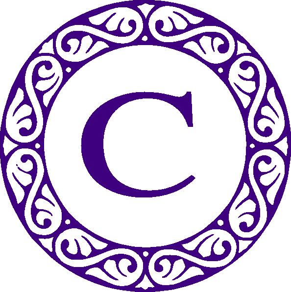 594x596 Letter C Clipart