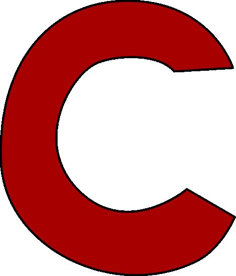 471x550 Red Letter C Clip Art