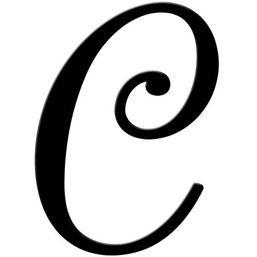 500x500 Script Letter C Clip Art Clipart