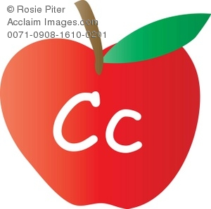 300x298 Art Illustration Of An Apple With The Letter C Written On It
