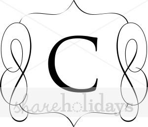 300x258 Classic Monogram C Monogram Letters