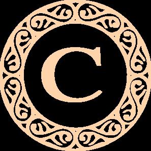 297x298 Letter C Monogram Clip Art