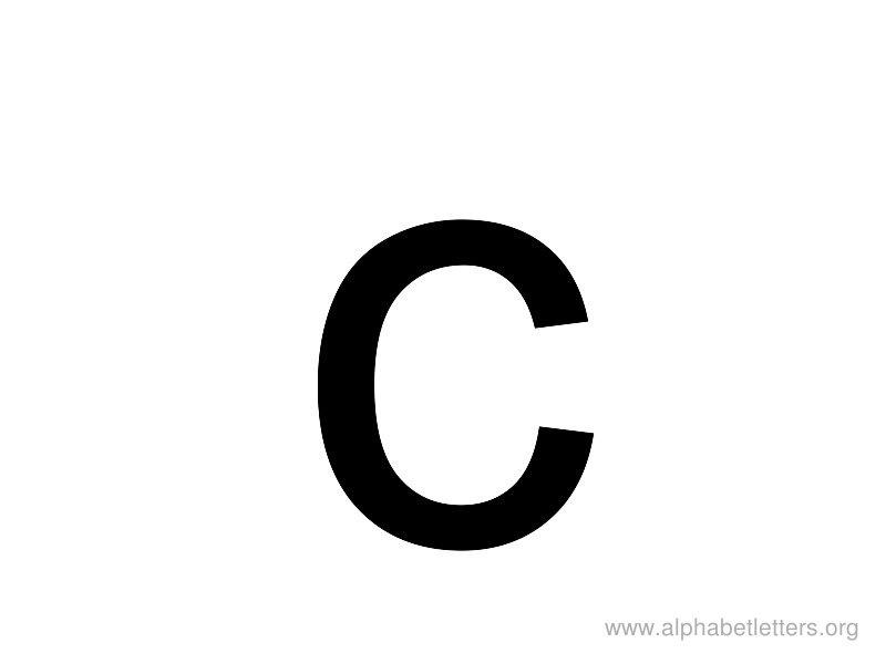800x600 Lowercase C Clipart Letters Example
