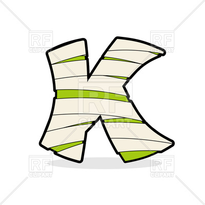 400x400 Mummy letter K Royalty Free Vector Clip Art Image