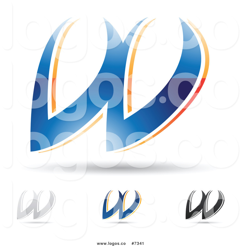 1024x1044 Royalty Free Clip Art Vector Logos Of Abstract Letter W Designs By
