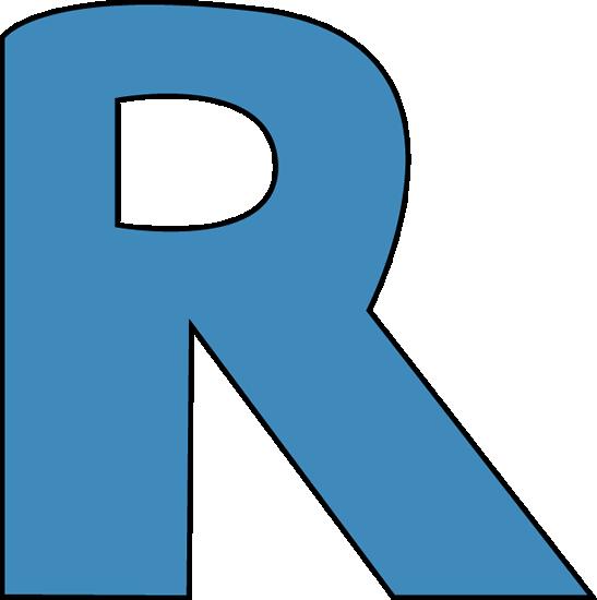 547x550 Blue Alphabet Letter R Clip Art