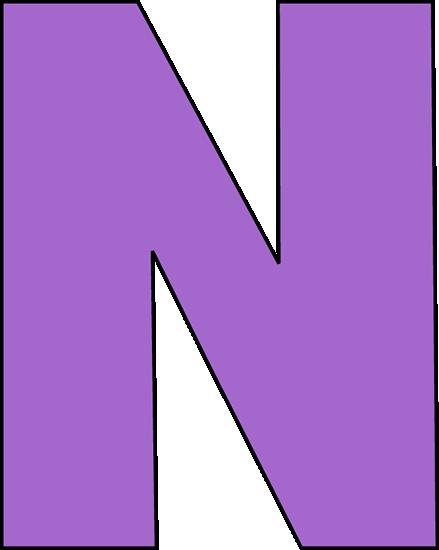 439x550 Purple Letter N Clip Art