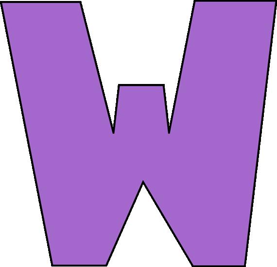 570x550 Purple Letter W Clip Art Image Clipart Panda