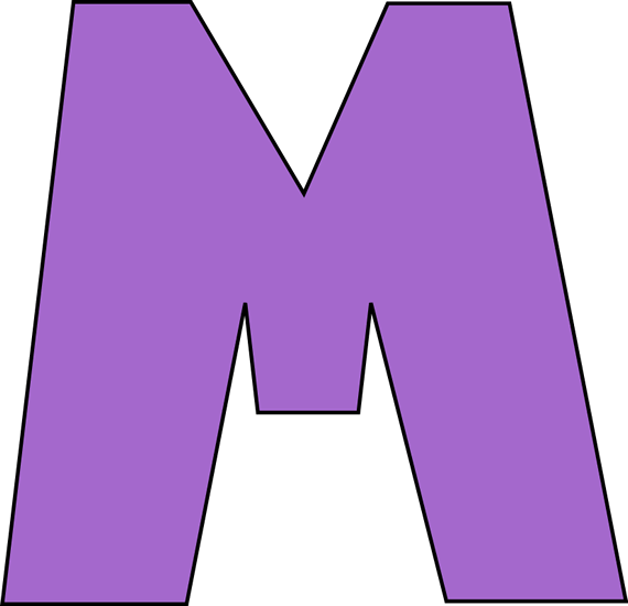 570x550 The Letter M Free Clip Art
