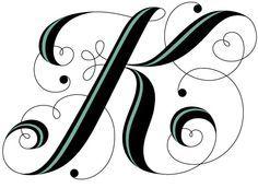 236x172 Letter K Tattoo