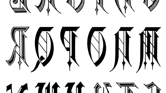 700x393 Tattoo Designs Old English Lettering Images