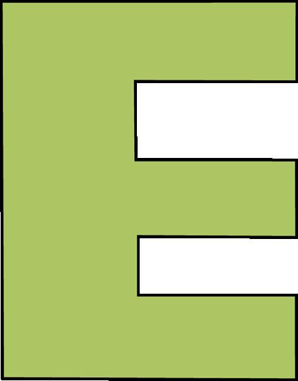 431x550 Green Letter E Clip Art
