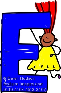 198x300 Image Of A Happy Little Girl Climbing Over A Giant Letter E