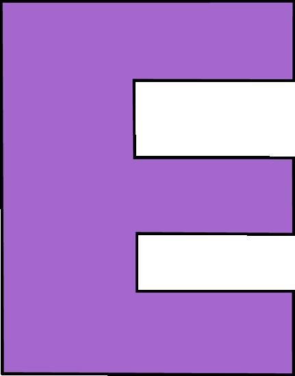 431x550 Purple Letter E Clip Art