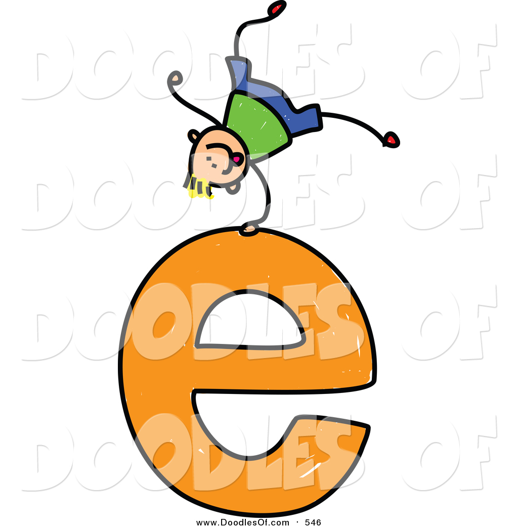 1024x1044 Vector Clipart Of Doodled Blond White Boy Cartwheeling On