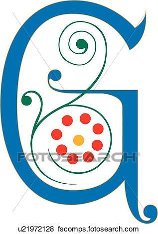 317x470 Clip Art Of Letter G U21972128