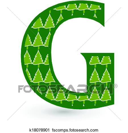 450x465 Clipart Of Letter G Christmas Tree K18078901