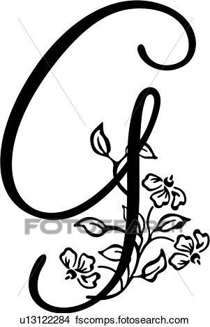 301x470 G Monogram Clip Art