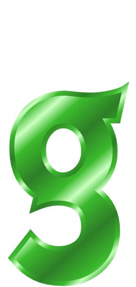 270x570 Green Metal Letter G Clip Art Download