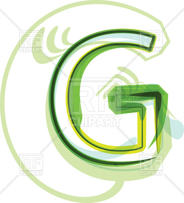 364x400 Green Capital Letter G On White Background Royalty Free Vector