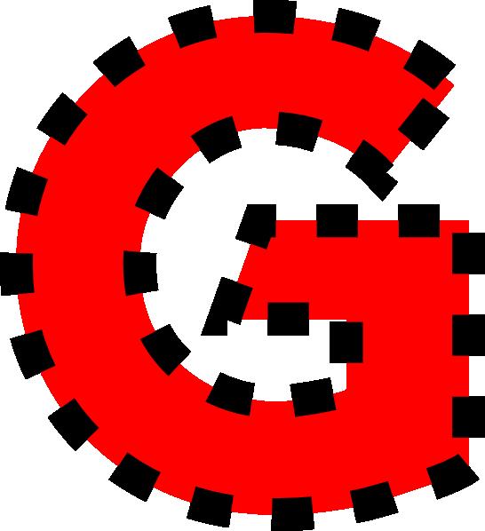 546x598 Uppercase G Clip Art