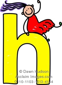 218x300 Image Of A Happy Little Girl Climbing Over A Giant Letter H
