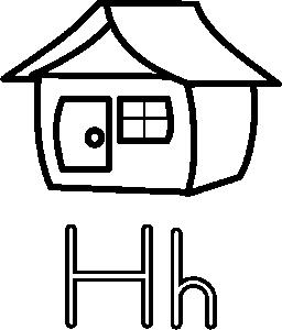 256x300 Letter H Clip Art Download