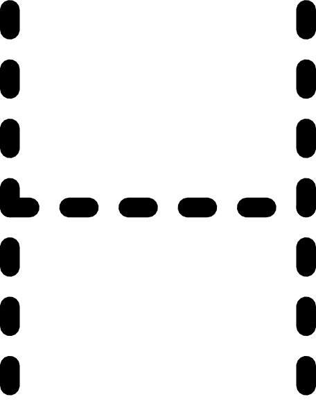 456x598 Alphabet Tracing Letter H Clip Art