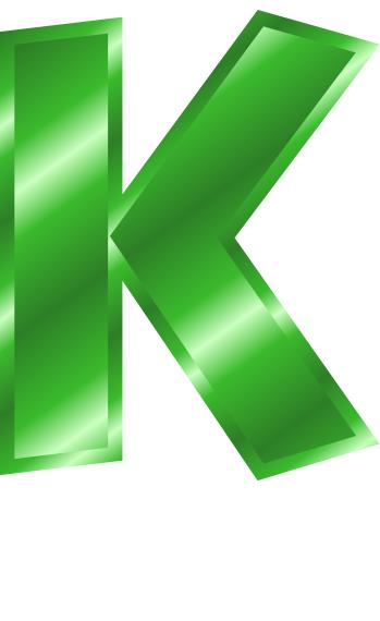 349x570 Green Metal Letter Capitol K Clip Art Download
