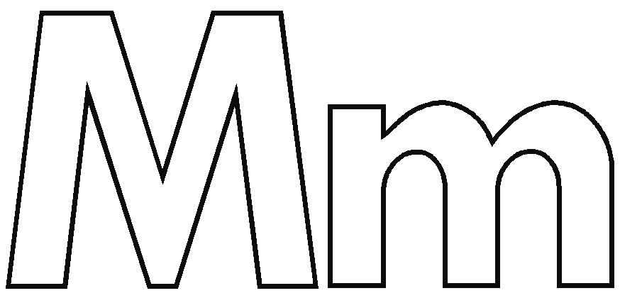 Letter M Outline | Free download best Letter M Outline on