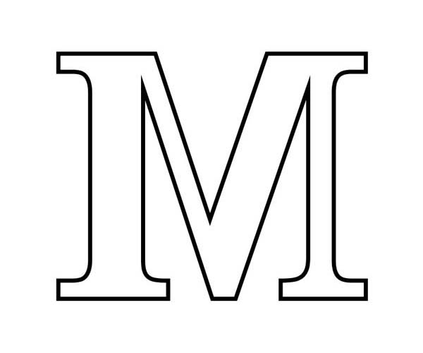 graphic relating to Letter M Printable called Letter M Define Totally free down load simplest Letter M Define upon