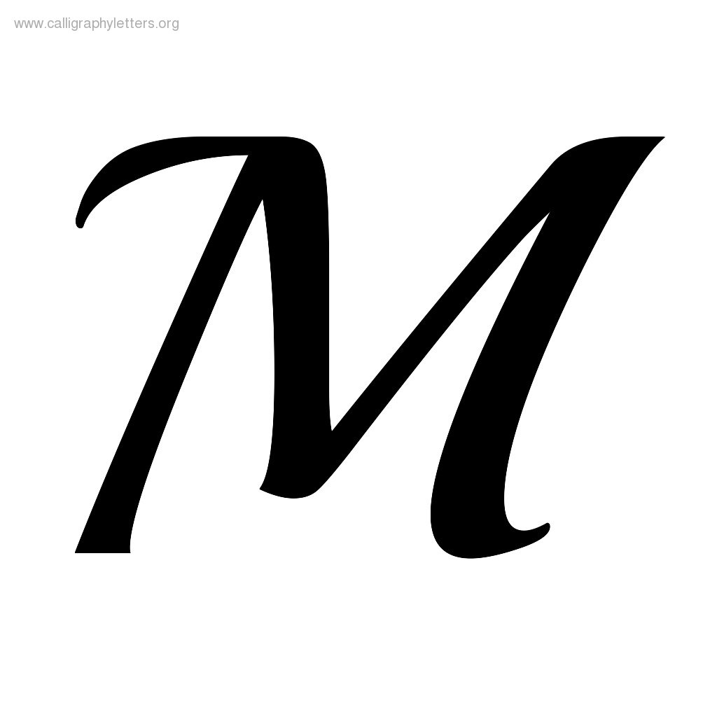 Letter M Outline Free Download Best Letter M Outline On Clipartmag Com