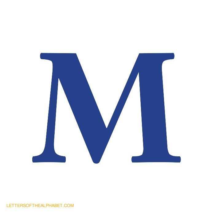 700x700 Capital Letter M Template