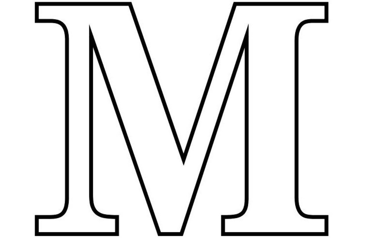 Letter M Outline Free download