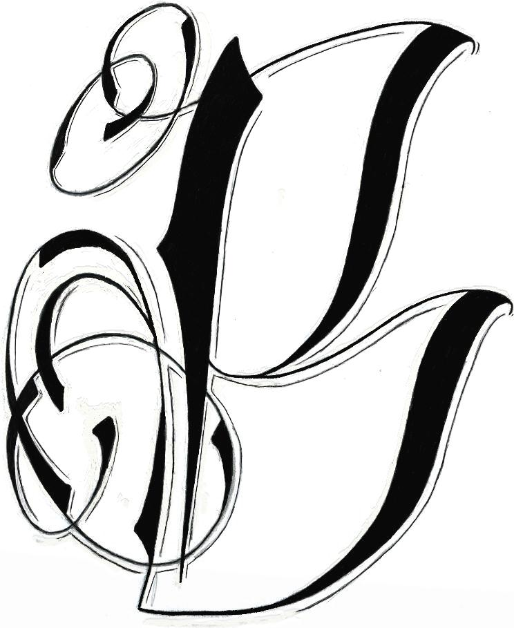 744x909 Download Tattoo Design Letters K