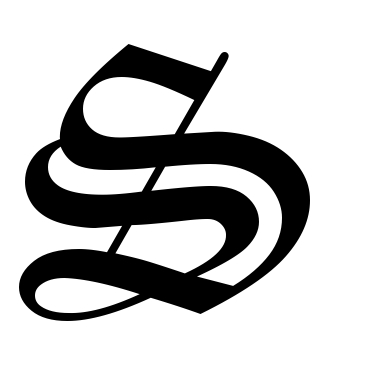 380x380 Gothic Letter S Tattoo
