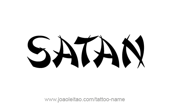 547x364 Nice Font Amazing Satan Letters Tattoo