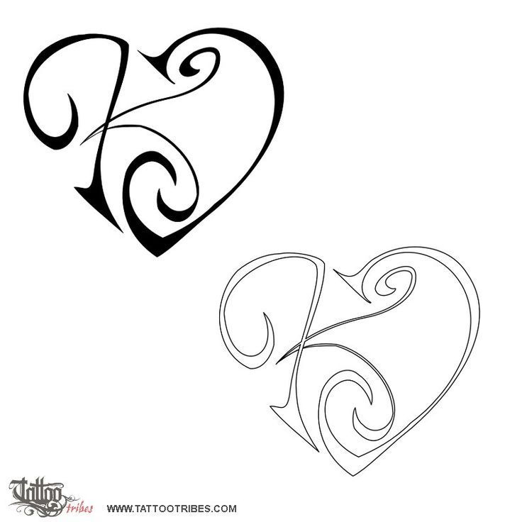 736x736 Tattoo Design Letters K