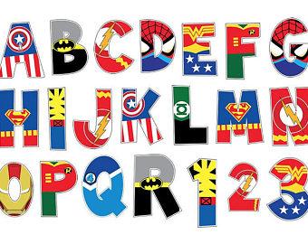 340x270 Instant Download Superhero Alphabet Letters Clipart Clip Art
