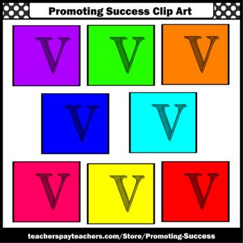 350x350 Letter V, Alphabet Letters Clip Art, Letter Sounds Clipart Sps Tpt