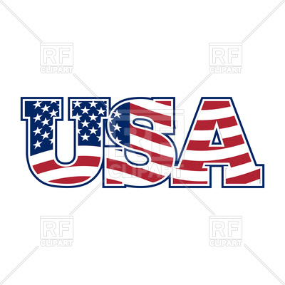 400x400 Usa Letters Royalty Free Vector Clip Art Image