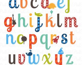 340x270 Boy Alphabet Letters Scrapbooking Alphabet Clipart Clip Art