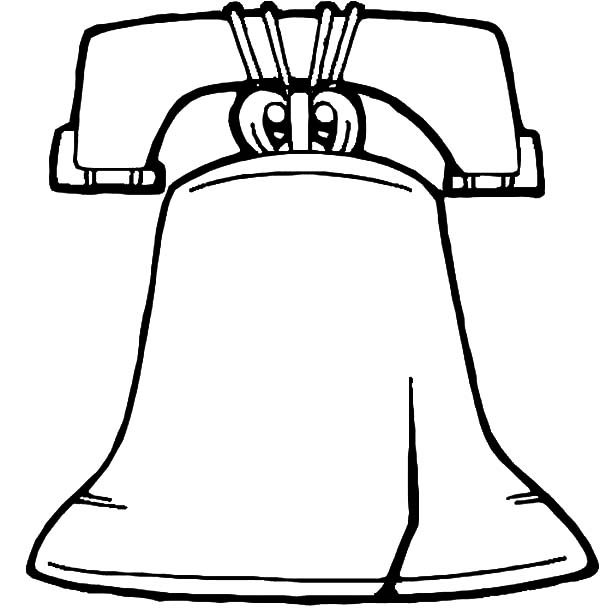 600x610 The Crack Of Liberty Bell Coloring Pages Batch