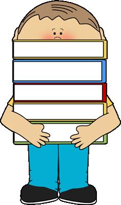 236x400 Boy Carrying Books Clip Art